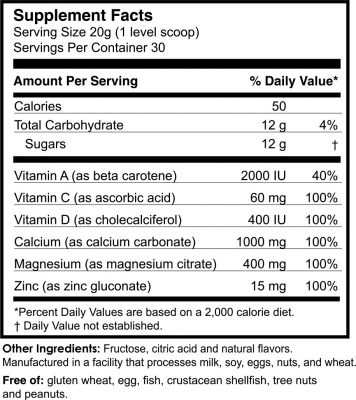 Cal Mag 100 supplement facts