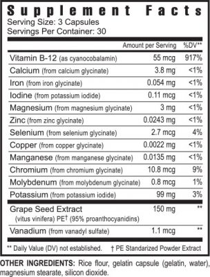 Super cell protector supplement facts