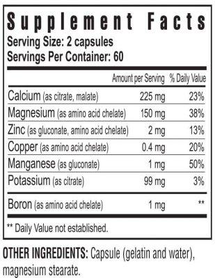 Bio Calcium supplement facts