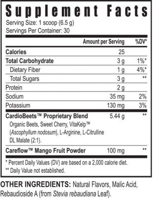 CardioBeets supplement facts