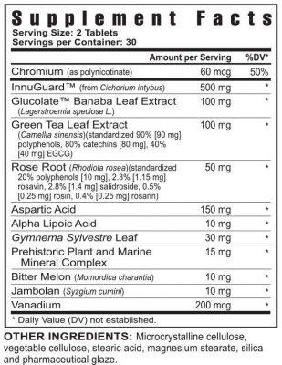 glucogenix supplement facts