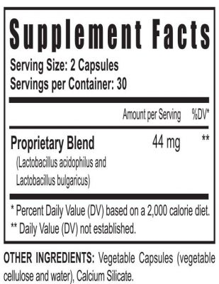 probacillus supplement facts
