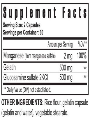 gluco-gel supplement facts