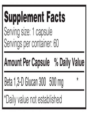 RYL Beta500 supplement facts