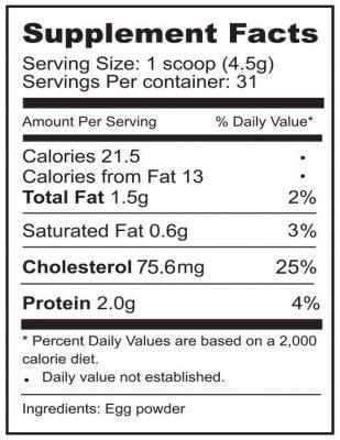 i26 powder supplement facts
