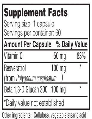 RVB300 supplement facts